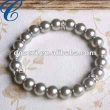 10mm Coffee Faux Pearl Bracelet For Beauty,Wisdom And Friendship