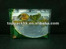 fishing lure bags/with ziplock&window&euro hole/special design