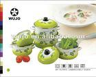 Enamel Cookware fading color casserole with 4 designs 5 pcs set 675YD