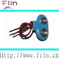 Free sample T type batter connector clip 9v battery snap