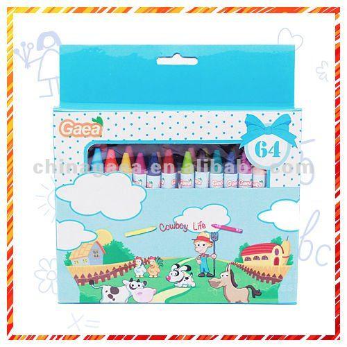 64 colors children crayon