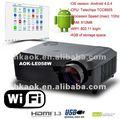 Wifiアンドロイドhd 2800ルーメンledプロジェクター「 スマートビーム」 サポート、 wifi3d16:9のワイドスクリーンプロジェクター