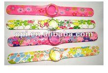 Promotional gift quartz mix color slap watches for men 122031