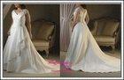 Satin large straps Applique wedding gown decoration