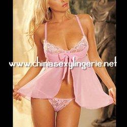 hot vintage ladies pink nighty dress L14107