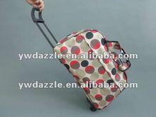 2012 fashionable lady travel trolley luggage bag on wheels