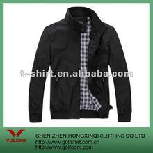 Classical Autumn Men Plain Black Jacket With Polyeser lining