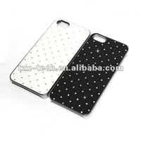 cute cellphone fabric sticked diamond case for iphone 5