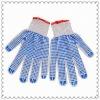 Double side cotton pvc polka dots glovesJRK06