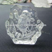 Small crystal Christmas gifts,crystal iceberg chirstmas gifts