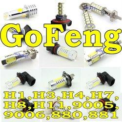 Car led,Auto led light,Fog light 9006 6W