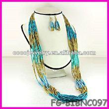 China spike rhinesone bib necklace jewelry cord roll chain