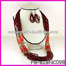China spike rhinesone bib necklace jewelry tassels cord rolo chain