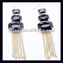 2012 latest fashion elegant drop long chain earring