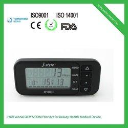 High tech 3d g-sensor multi-functional goal setting 14 day memory pedometer calorie counter equipment