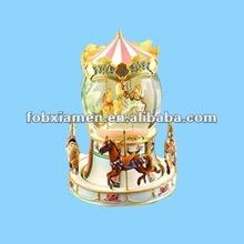 Merry Home Decor Carrousel Shaped Custom Snow Globe