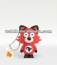 Christmas Gift , pvc fox ,usb flash drive, free sample , ROSH, CE, FCC