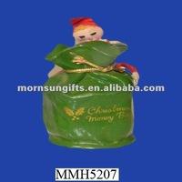 Green ceramic souvenir piggy banks
