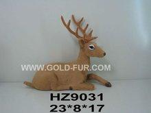 deer, deer decoration,fur animal,Christmas deer,emulation deer,sitting deer