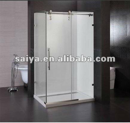 Sus304 ba o sin marco de vidrio pantalla puerta corredera - Puertas correderas de cristal para banos ...