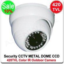 Surveillance Security 420TVL COLOR SHARP CCD CCTV Vandalproof Metal Infrared IR Dome Camera