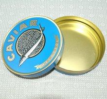 tin cans for caviar, tuna fish