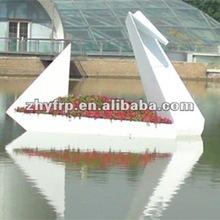 boat flower pot