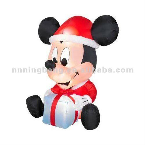 Mickey Mouse Decoracion Navidad ~ Decoraci?n de la navidad inflable de mickey mouse con el regalo