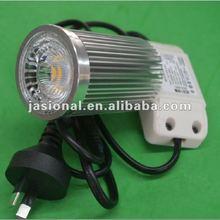2012 new arrivels,Wholesale 240Volt down lights 10w cob, with driver, flex plug, warm white