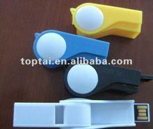 nice looking PVC whistle shape usb pen drive