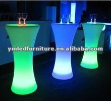 modern tea tables and chairs set with LED light furniture