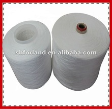 bleach 100% polyester spun yarn bright 10/1