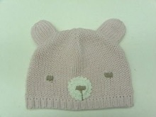 Handknit bear hat