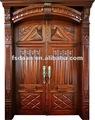 de hierro forjado puerta de madera