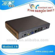 Industrial standard mini itx case XCY L-18 with 6 USB ports