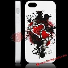 Luxury Stylish Heart Blossom Pattern TPU Cell Phone Case For iPhone 5 Cover
