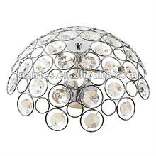 Chrome semi flush ceiling halogen light crystal MX1310