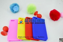 crochet silicone cell phone bag for iphone 5 case