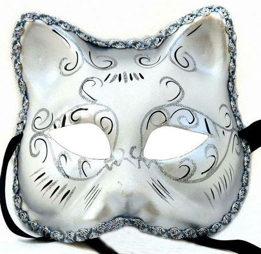 Partido de la mascarada máscara máscara de pasta de + de yeso ...