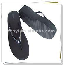 High heel women EVA slippers with sequineed strap