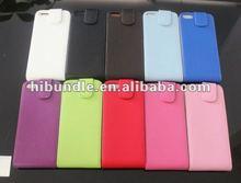 Premium Luxury Slim PU Leather Flip Top Case Cover for Apple iPhone 5 5G
