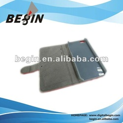 2012 new design leather case for iphone5