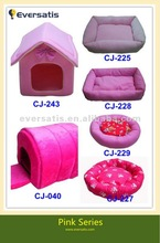 2012 New pink princess dog house quilted dog beds