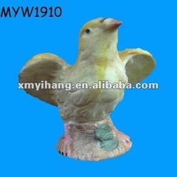Garden decor ceramic canary birds for sale
