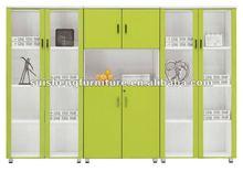 Office furniture 8 doors vertical wooden filing cabinet design