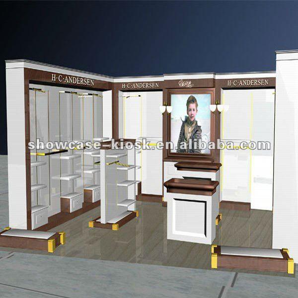 Clothing shop interior design made of MDF,glass,View Clothing shop ...