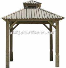 O durável ao ar livre de madeira simples tendas gazebo