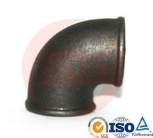 black malleable iron pipe fitting