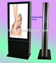 LCD Advertising Totem Floor Standing Double sides 55 Inch