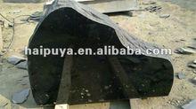black granite head stones